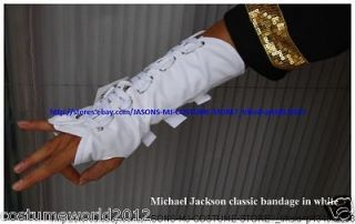MUST HAVE MICHAEL JACKSON WHITE DANGEROUS ARMBRACE BANDAGE MJ