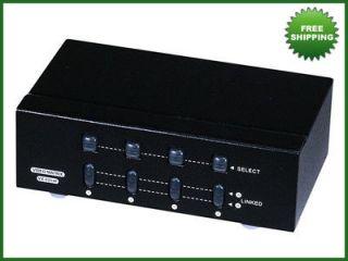 2x4 svga vga matrix switcher splitter amplifier 250mhz time left