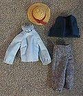 RARE Vintage 1962 Mattel Midge Barbie Doll Blue Outfit *MINT*