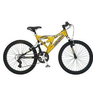 mongoose pro dual suspension mens mountain bike bicycle time left