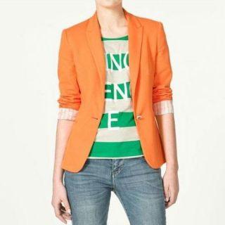 New Fashion Womens Casual Tunic Foldable Long Sleeve Blazer Jacket