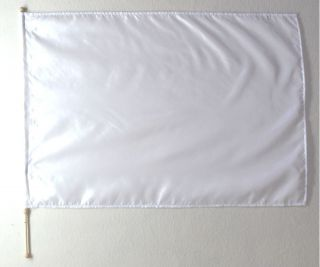 Large   White   Poly silky Flag with Pole   Christian Worship Dance
