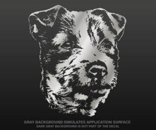 TERRIER Decal METALLIC SILVER 5 DOG Wall Car Vinyl Sticker C 5