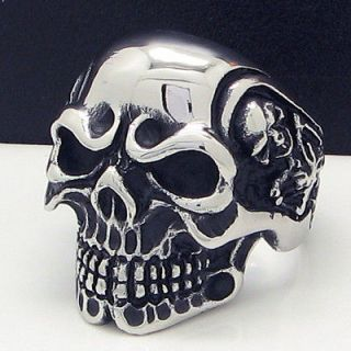 cool horrible skull stainless steel ring size 13 new from