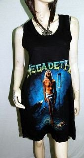 Megadeth Heavy Metal Rock DIY Singlet Tunic/Dress Top Shirt