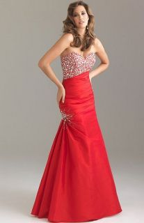 NEW* 2012 NIGHT MOVES BY ALLURE 6423 FORMAL PROM/HOMECOMING DRESS RED
