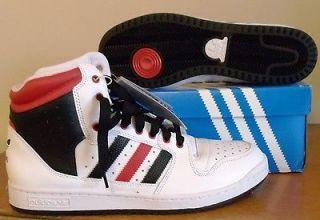 NWT Mens Adidas Originals High Top Shoes US 11.5 White/Black/Red