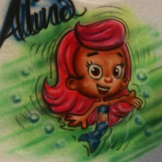 AIRBRUSHED Bubble Guppies Cool Mollie NEW T SHIRT AIRBRUSH 3/6 Months