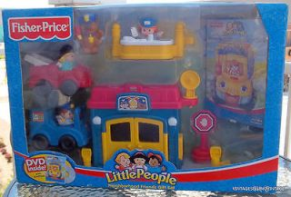 NISB FISHER PRICE LITTLE PEOPLE NEIGHBORHOOD FRIENDS GIFT SET DVD GIFT