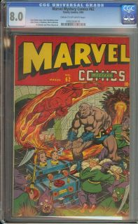 MARVEL MYSTERY COMICS #62 CGC 8.0 CR/OW PAGES///ALEX SCHOMBURG COVER