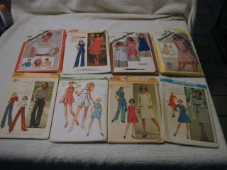 simplicity patterns women s sz 14 vintage 1970 s 1980