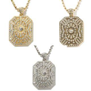 Paula Abdul FYG Signature Pave Pendant 28 Fashion Necklace   Choose 1