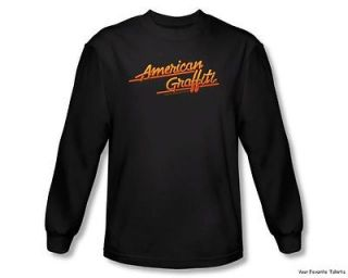 American Graffiti Neon Logo Officially Licensed Long Sleeve Shirt S