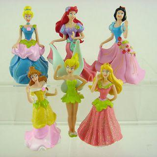 NEW ARRIVAL 6 pcs Disney Princess Cinderella Belle Tinkerbell 8cm
