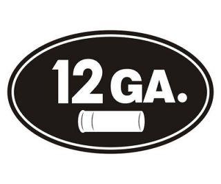 12 Gauge Oval Ammo Can GA Shell Slug Shotgun Car Vinyl Sticker Decal