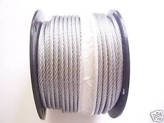 Galvanized Aircraft Cable Wire Rope 1/4, 7x19, 150 ft Reel