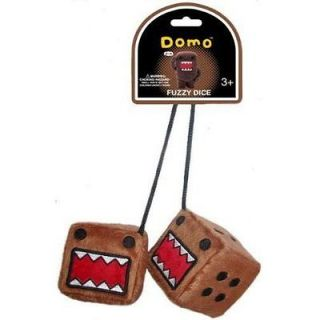 domo kun big mouth plush fuzzy dice ht dfd101 expedited