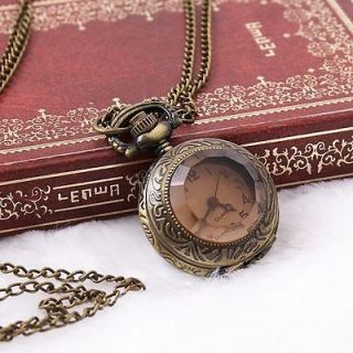 Dial Copper Chain Antique Style Xmas Gift Necklace Pocket Watch
