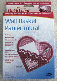 Basket Quick Count Plastic Canvas Kit by Uniek Featuring Needloft Yarn