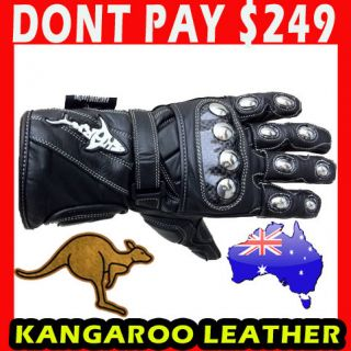 Shark TPS Extreme Kangaroo Leather Motorcycle Road Race Gloves Special