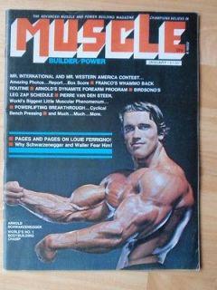 MUSCLE BUILDER bodybuilding fitness magazine/ARNOLD SCHWARZENEGGER