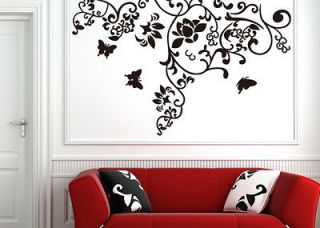 Hot Sale Tree Branch Butterfly Flower Wall Decor Sticker Art Vinyl