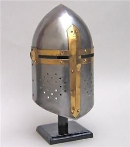 medieval knight crusader sugarloaf helmet armor new