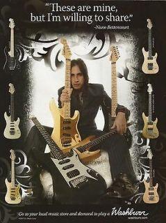 washburn nuno bettencourt n2 n4 n5 n61 guitar promo ad