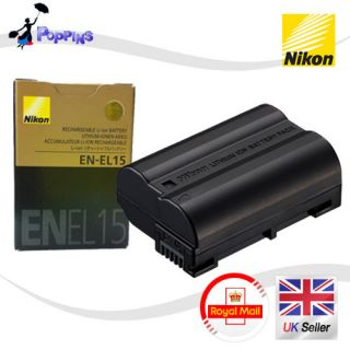 new genuine nikon en el15 battery for nikon d7000 d800