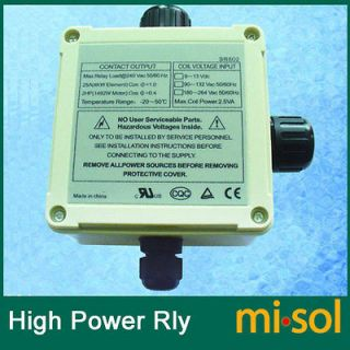 high power relay 220V for electrical heating for solar water heater