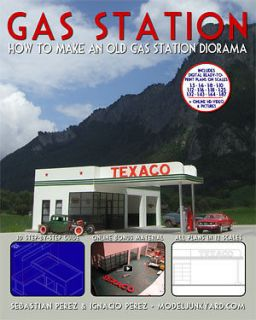 diorama gas station how to make an old gas station
