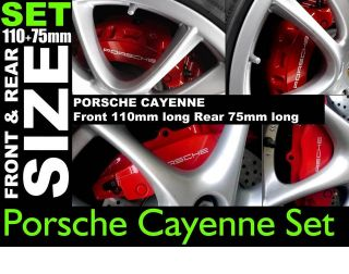 PORSCHE Premium Brake Decals Graphics Stickers 911 Turbo 924 Cayenne