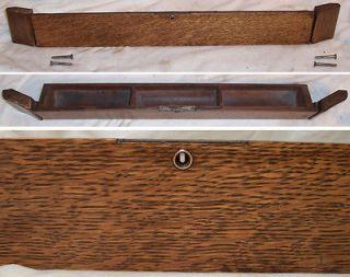 antique tiger oak singer treadle sewing machine center middle flip