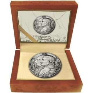 Niue 2012 5$ War of 1812 Napoleon   Kutusow High Relief 2Oz Silver