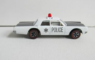 HOT WHEELS REDLINE 1969 POLICE CRUISER BLACK & WHITE RL * GREAT