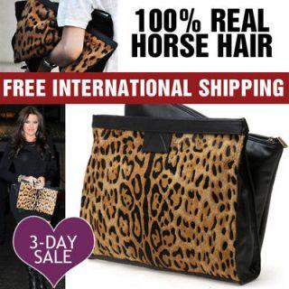 Hollywood LEOPARD Cheetah Animal Print Large Oversized Clutch Handbag