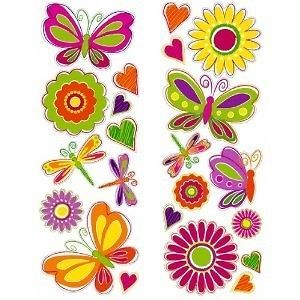 BUTTERFLIES FLOWERS 27 Removable Wall Decals Butterfly Flower Room