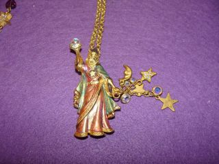 kirks folly crystal wizard brooch necklac e vintage time left