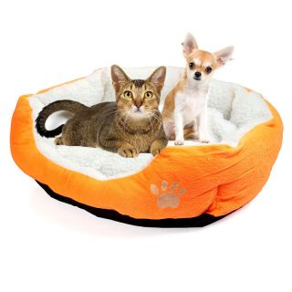 Luxury warm round unique soft Pet dog cat bed Medium lovely cute Oran