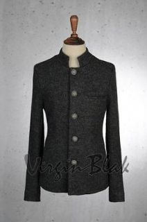 vb homme mens mandarin collar wool blend jacket 6na more