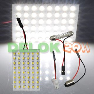5x 12V Car 48 SMD White LED Light Panel T10 Festoon Ba9s Dome USA Ship
