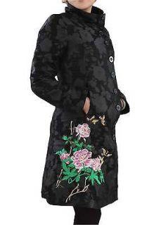 2012 New Desigual women black jacket coat size 46/2XL /UK18