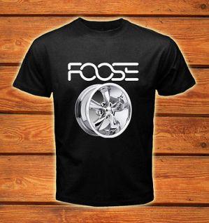 Foose Accesories Sport Car Vintage Logos Men Black T shirt tee size S