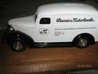 Newly listed Ertl MIB w/key 1938 CHEVROLET PANEL TRUCK BANK 1/25