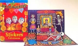 NEW* DIA DE MUERTOS stickers DAY of the DEAD mini altar skulls