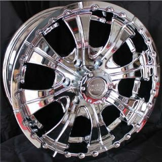 CHROME RIMS 6 LUG CHEVY 1500 Silverado Sierra Yukon TRUCK WHEELS 6x5.5
