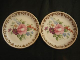 crown staffordshire pin dishes floral bone china from united