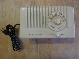 Working 1940s Vintage RCA Victor Nipper Bakelite Plaskon AM Tube Radio