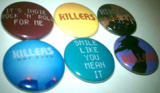 6x The Killers band Buttons Badges shirt pins pinbacks NEW