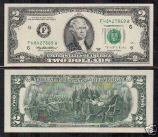 united states usa 2 dollars 1995 unc p 497 f